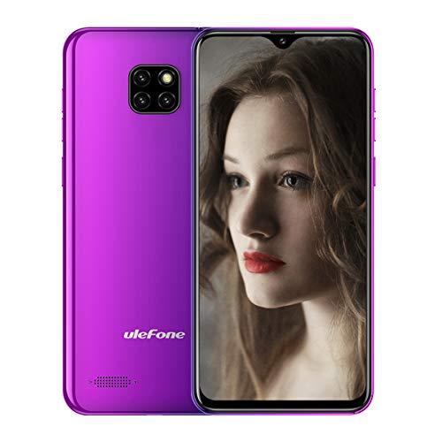 Ulefone Note 7 (2019新品) SIMフリースマートフォン Android 8.1 6.1インチ画面 アスペクト比19.2:9 背面8MP+2MP+2MPトリプルカメラ 5MPフロントカメラ デュアルsim(nano micro)+1 TFカッド グローバル 3G対応スマホ 1GB RAM+16GB ROM (64GBまでメモリー可拡張) 顔認証 3500mAhバッテリー (トワイライト)