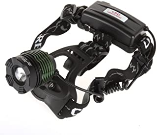 BESTSUN Rechargeable Zoom CREE T6 LED Headlamp, Camping, Hunting or Fishing Head Lamp, Hiking LED Headlight (A Complete Set with 2 x 18650 Li-ion Batteries and 1 x Charger)