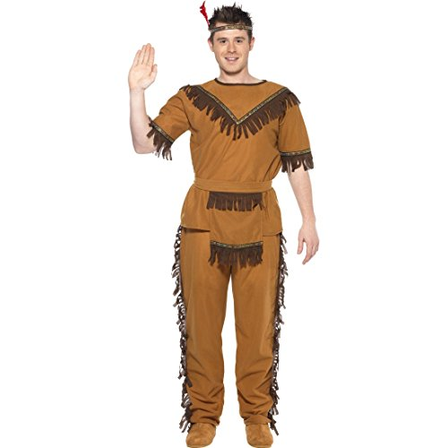 Disfraz de Indio Americano Western Indios de la Tribu de Vestuario para Hombre Traje Occidental Apache lejano Oeste para Disfraz de Vaquero Tienda de Disfraces para Carnaval Disfraz Fiesta