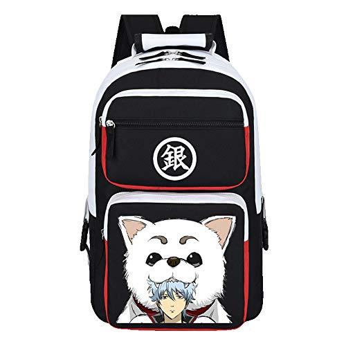 WOONN Mochila Hombre Backpack Niños Y Niñas Adolescentes Mochila Escolar Moda Mochila para Portátil Mochila para Portatil Anime Viaje Negocios Bag Backpack Gintama