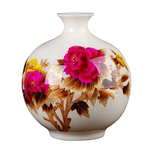 Vaas Graf Keramische Moderne Eenvoudige Hoge kwaliteit voor Decoratie Art Home Huishoudelijke Bruiloft Woonkamer Slaapkamer Kantoortafel met Basis Wit 26 x 30 cm voor bloemen