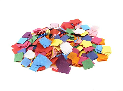 Hygloss Products 88524 Mosaic Bleeding Tissue Paper Squares 1 inch x 1 inch-for Arts & Crafts, DIY Projects, Classroom Activities & Much More, 1-Inch, 20 Assorted Colors-2400