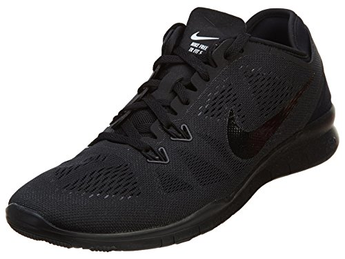Nike 704674 Free 5.0 TR Fit 5 Womens Training Shoes - Black/Black/Black - 8