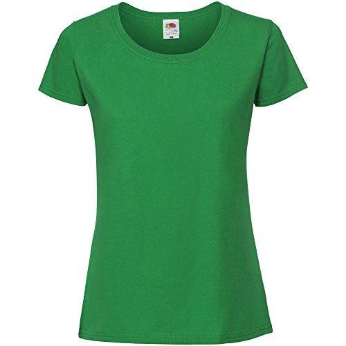 Fruit of the Loom - Camiseta de Ajuste Premium para Mujer (M/Verde...