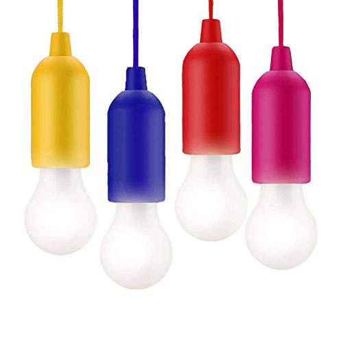 KINDAX 4 LED-Lampen für Camping, LED-Licht für Zelt, tragbar, für Garten, Schreibtisch, Schrank, Camping, Angeln, Grill