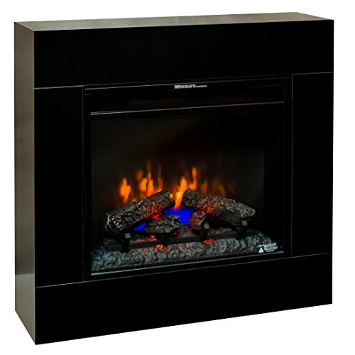 Classic Flame Moderner Wandkamin zum stellen oder hängen Modell Simo schwarz 3D LED 23