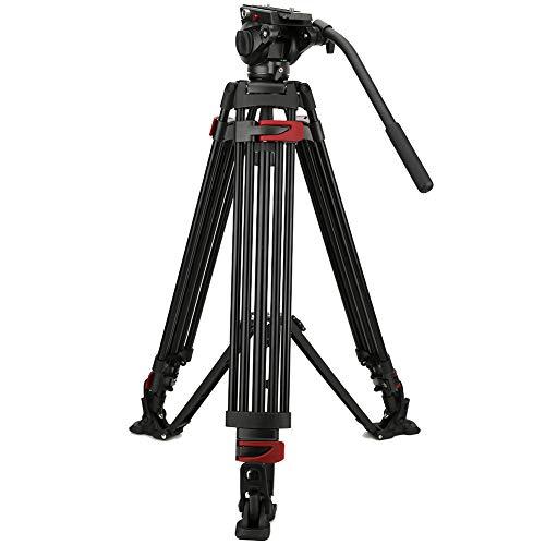 zhuolong Miliboo MTT069A Treppiede in Lega di Alluminio per Fotografia con Testa a Sfera idraulica Adatta per videocamere Canon SLR
