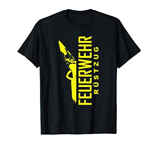 Feuerwehr Rüstzug Schere und Spreizer Feuerwehrmann T-Shirt
