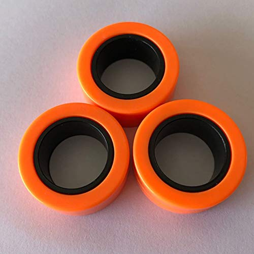 Magnetic Rings, Stress Relief Toys, Decompression Relief Autism, Anxiety, Stress Toys, Training Relieves Stress Reducer 6 Pcs Set(Orange outside and black inside)