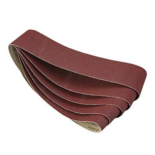 DOITOOL 5 Stück Schleifband Aluminiumoxid-Bandschleifbänder Schleifstreifen
