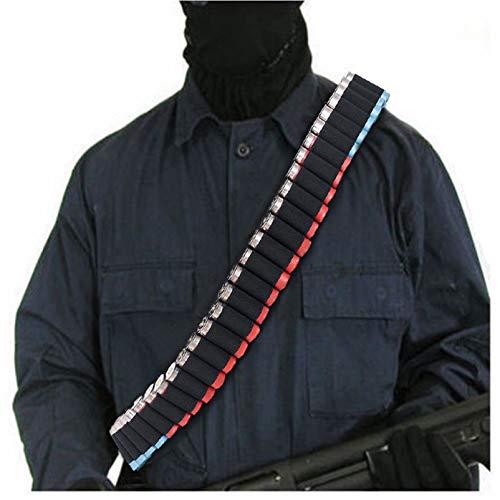 N \ A 50 Bandolera Redonda de Bandolera de Escopeta, Calibre 12 y 20 Ga, munición de Rifle sigiloso, Bandolera de Bandolera para el Hombro, para recuento de proyectiles tácticos y Caza Exterior