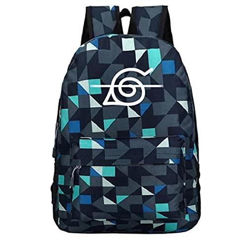 BKHNHUG Mochila con patrón periférico de Anime Hokage, mochila escolar para estudiantes, mochila de viaje, patrón 9, tamaño libre
