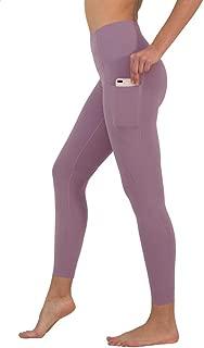 High Waist Ultra Soft Ankle Length Leggings with Pockets (Medium, Tayo Yam)
