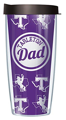 Signature Tumblers Tarleton State University Dad Logo Wrap on Purple 22 Ounce Double-Walled Travel Tumbler Mug with Black Easy Sip Lid