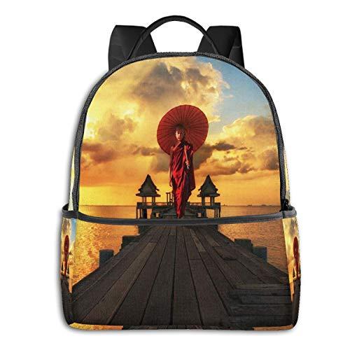 Schulrucksack Schultaschen Mädchen Teenager Rucksack Schultasche Schulrucksäcke wasserdichte Backpack für Damen Herren Geeignet 14 Zoll Notebook Thailand Myanmar Anfänger