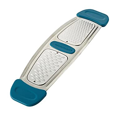 Rachael Ray 46913 Stainless Steel Multi-Grater with Silicone Handle, Small, Marine Blue