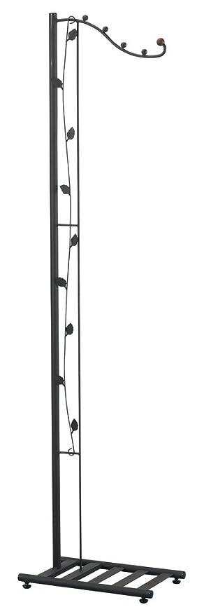 自分のけがをする書誌下村企販 スリムリーフ コート掛け ブラウン 24.2×39.7×154.5cm 29532