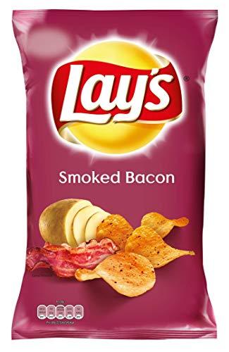 Lay's Smoked Bacon – Knusprig gewürzte Kartoffelchips mit Rauchschinken-Geschmack – 175g
