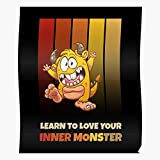 Learn Inner Scary Creepy Monster Love Cartoon Your Halloween Costume Happy to I FSGdecor- The Most Impressive and Stylish Indoor Decoration Poster Available Trending Now