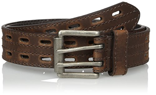 Nocona Belt Co. Men's Hired Brown Double Hole, 38