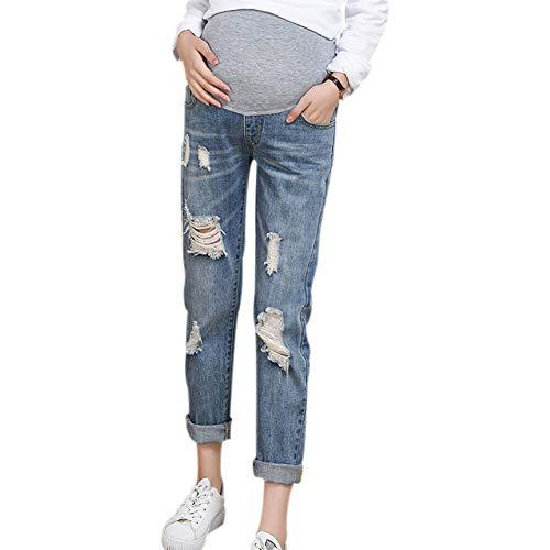 Hzjundasi Embarazada Mujer Vaqueros Maternidad Ajustable Elástico...