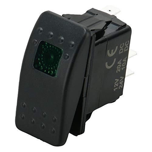 12v 20 Amp On//off Waterproof Boat Marine SPST 3P Rocker light Switch-Red LED