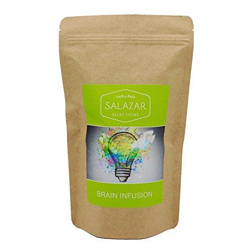Salazar Brain Infusion 150g Aromapack | Energy & Konzentration | Grüner Tee, Ginkgo, Ingwer | Konzentrationstee