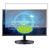VacFun 3 Piezas Claro Protector de Pantalla, compatible con Samsung C24FG70 LC24FG70FQUXEN 23.6' Display Monitor, Screen Protector Película Protectora(Not Cristal Templado) NEW Version