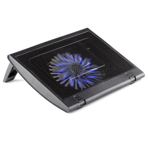 NGS turbostand, met grote, verlichte USB 2.0-ventilator voor notebook computer – zwart