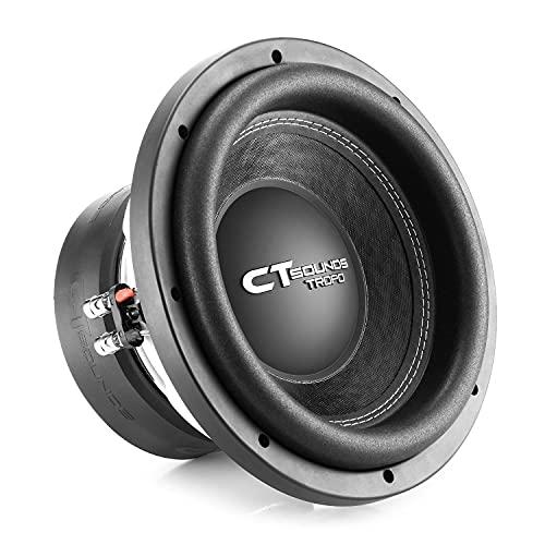 CT Sounds TROPO-10-D2 1300 Watt Max 10 Inch Car Subwoofer Dual 2 Ohm