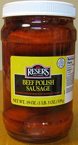 Reser's Mild Pickled Beef Polish Sausage Quart Jar