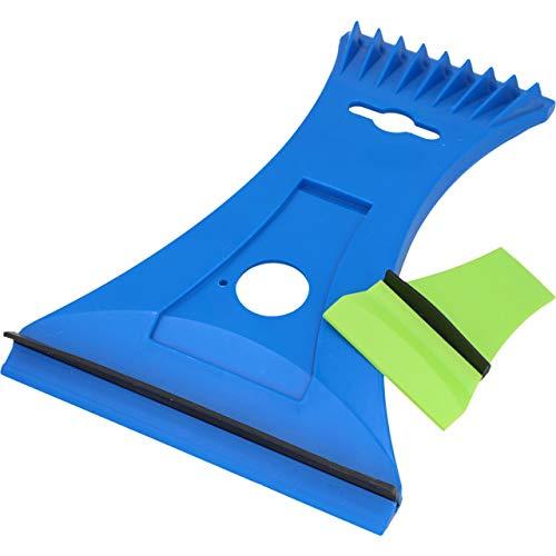 Cartrend 96189 Duo - Rascador de Hielo con Hoja de latón, diseño ergonómico con Limpiador de Espejo Integrado