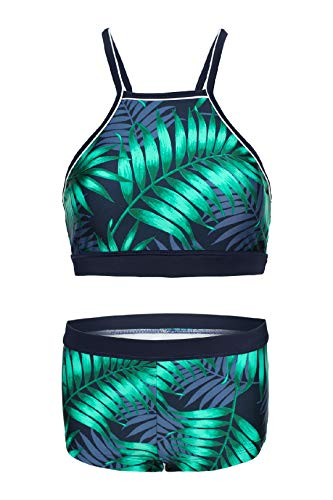 La-V Mädchen Bikini Zweiteilig Smaragd-Blau B156/Größe 152/158