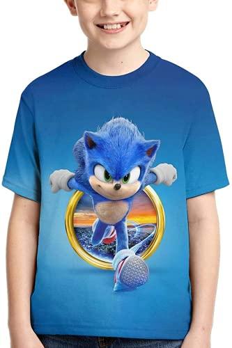 AMCYT SonicT-Shirt The Hedgehog - Camiseta unisex con dibujos animados 3D (Sonic 2, XL)