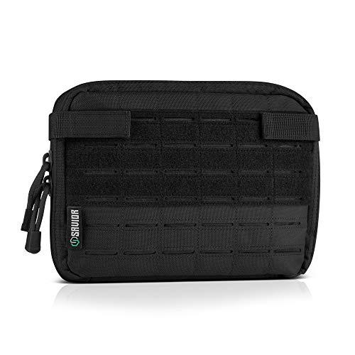 Savior Equipment Tactical Multi-Purpose EDC Admin Pouch Military Waist Belt Modular Utility Tools Bag Organizer, Laser-Cut Style Molle Attachment Ready