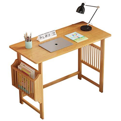 BIAOYU Escritorio pequeño con almacenamiento para computadora y escritorio, escritorio para oficina, portátil, estudio, escritorio para oficina (color: natural (sin silla), tamaño: 80 cm)