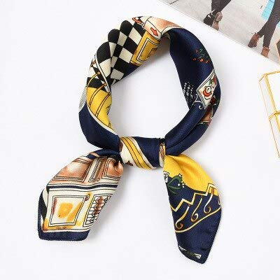 YDMZMS 50 x 50 cm sjaal, vierkant, haarband, zijden sjaal, voor dames, wilde vliegen