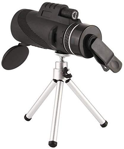 ZHTY BAK4 Monocular Compacto: telescopio monocular con Zoom de Alta Potencia, Lente con Zoom de 8 aumentos Telescopio de Alta definición, con Adaptador para teléfono Inteligente y trípode, telescopio