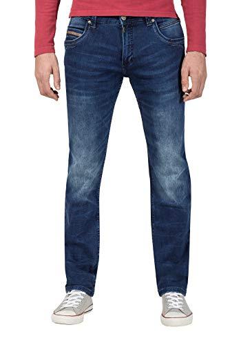 Timezone Herren Regular RyanTZ Straight Jeans, Blau (Industry Blue Wash 3346), 33W / 32L