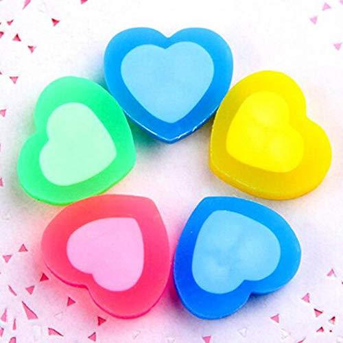 Boner 30 stuks schattige kleurrijke hartvorm rubber gum cartoon school kantoorbenodigdheden voor kinderen briefpapier kerst