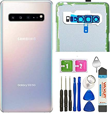 Samsung Galaxy S10 5g Cover Back Glass Replacement Camera Frame Lens Parts For Samsung Galaxy S10 Sm G977u G977n 5g Back Cover Glass Door Housing Tools Elektronik