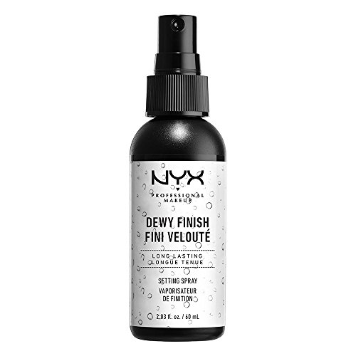 NYX Professional Makeup Spray fijador Makeup Setting Spray, Larga duración, Ligero, Fórmula vegana, Acabado Dewy (hidratado), 60 ml