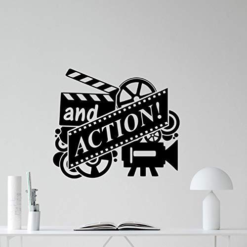 Action Movie Muurtattoo Filmrol bioscoop thuisbioscoop vinyl sticker wanddecoratie afneembaar behang plakband poster 66 * 57 cm