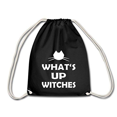 Halloween Lustiger Spruch What's Up Witches Turnbeutel, Schwarz