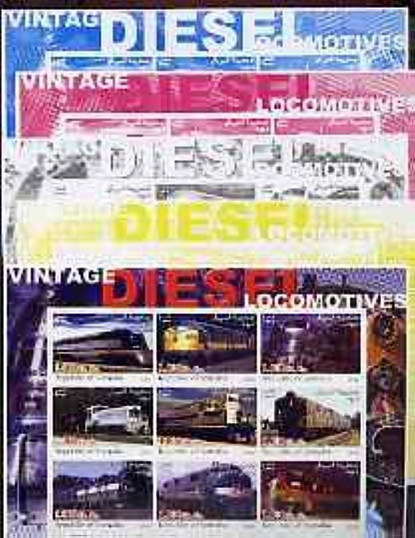 Somalia 2002 Diesel Locomotives  3 imperf sheetlet Set of 9 Values, The Set of 5 Progressive proofs Railways JandRStamps