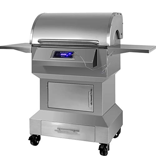 Purchase SMOKE-N-HOT Stainless Steel Wood Pellet Grill and Smoker, Digital Temperature Control Syste...