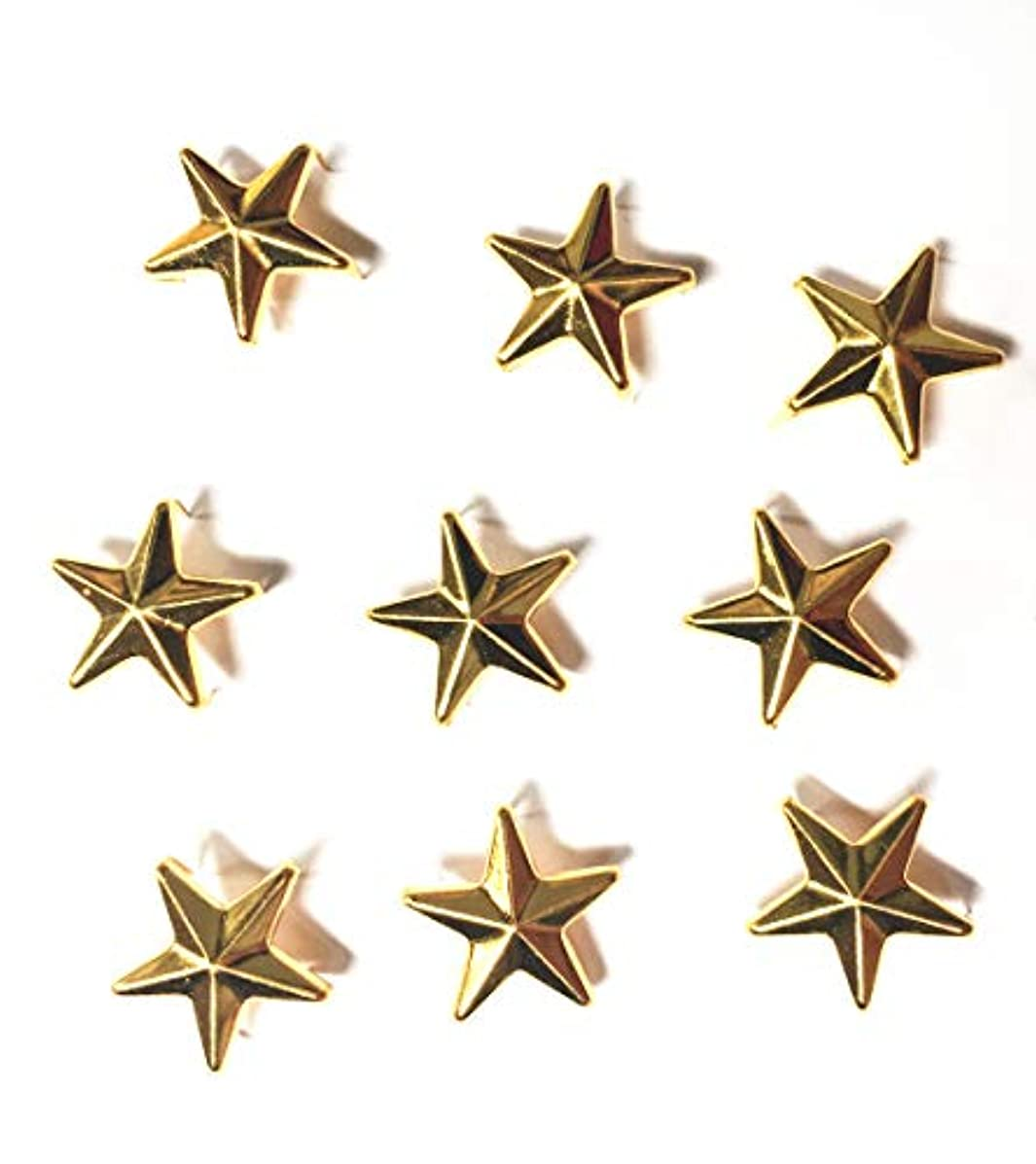 50 Pcs Star Studs Metal Claw Beads Nailhead Punk Rivets with Spikes (Gold, 10 Mm)