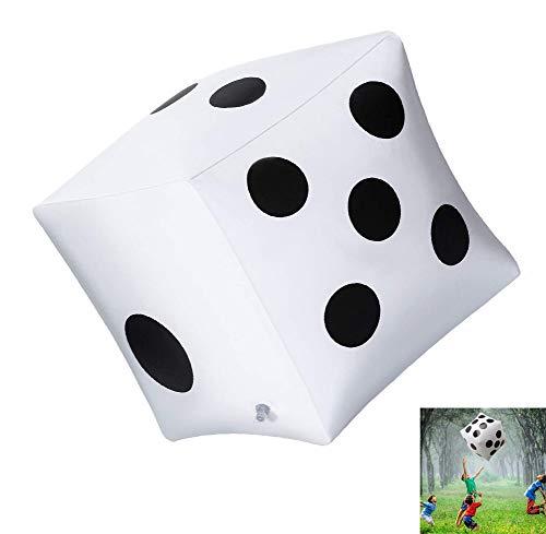 AMhuui Paquete de 3 Dados inflables Gigantes, Dados Gigantes Blancos y Negros para una...