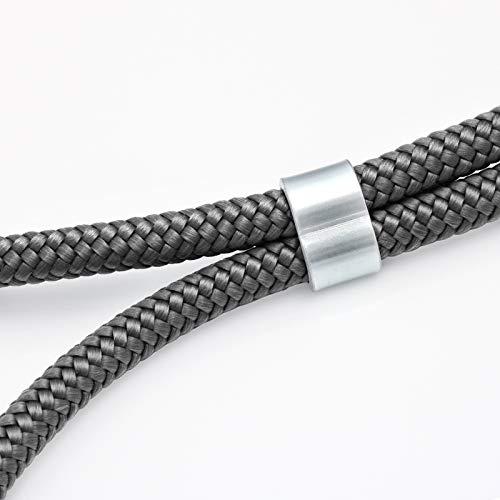 ZhinkArts Handykette kompatibel mit Huawei P20 Pro - Smartphone Necklace Hülle mit Band - Schnur mit Case zum umhängen in Dunkelgrau - 3
