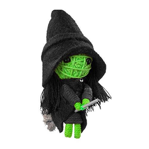 Voomates String Doll Voodoo-Puppen - handgemachte Sorgen-Püppchen Fingerpuppen - Die Handpuppen mit 81 Modelle - Wicked Witch (Hexe von der Zauberer von Oz)